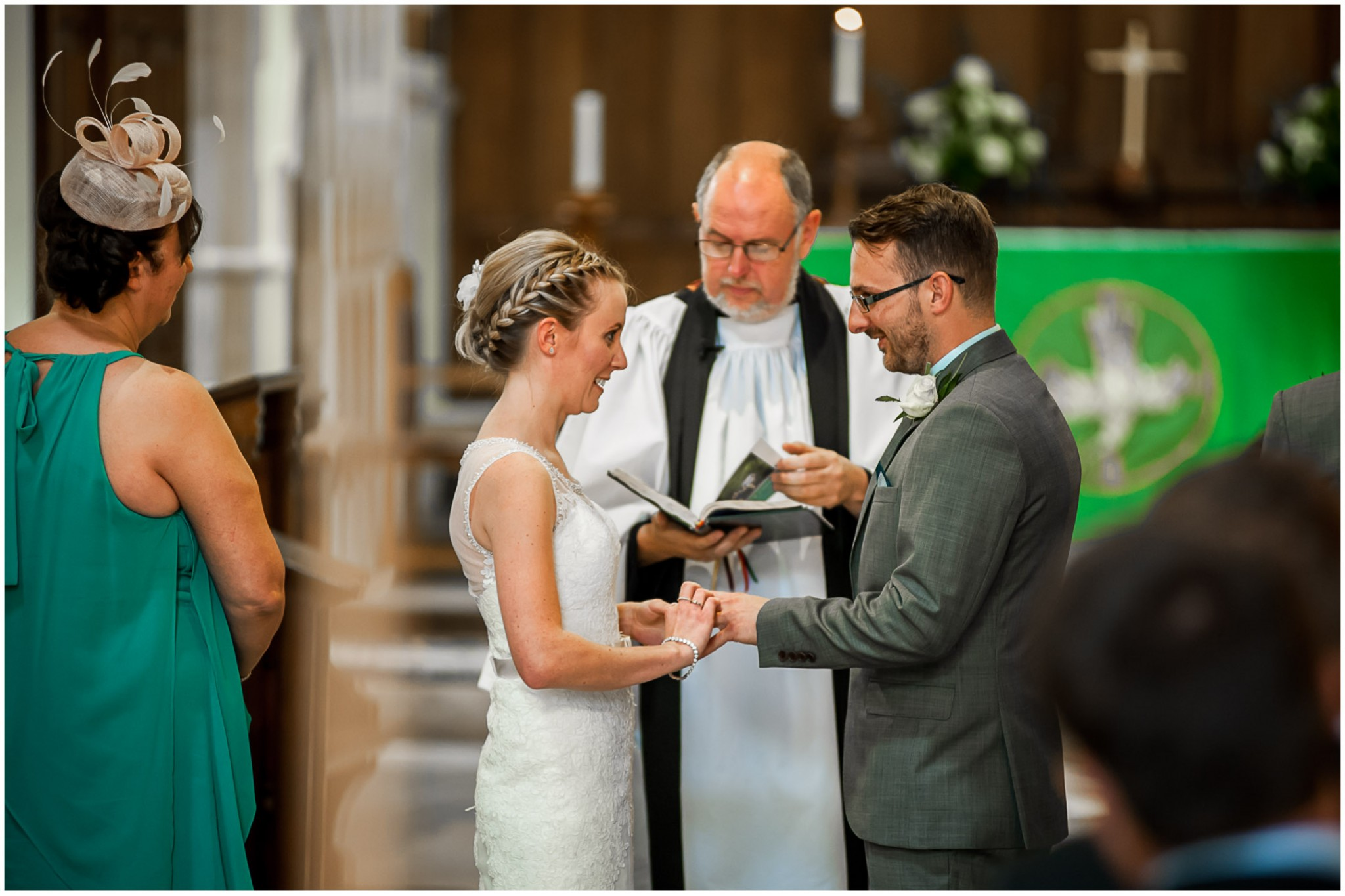 St Thomas a Becket Church Wedding Exchanging rings
