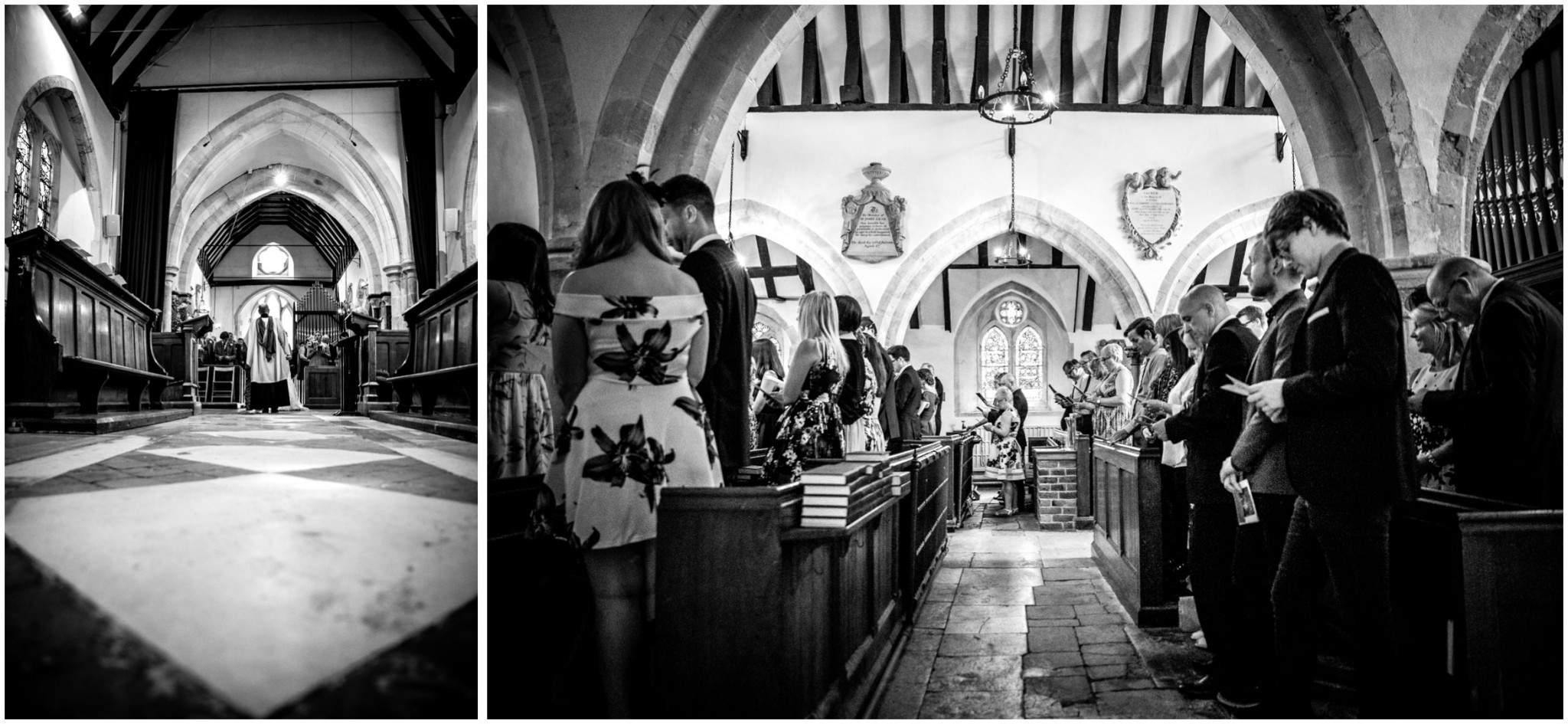 St Thomas a Becket Church Wedding Singing hymns