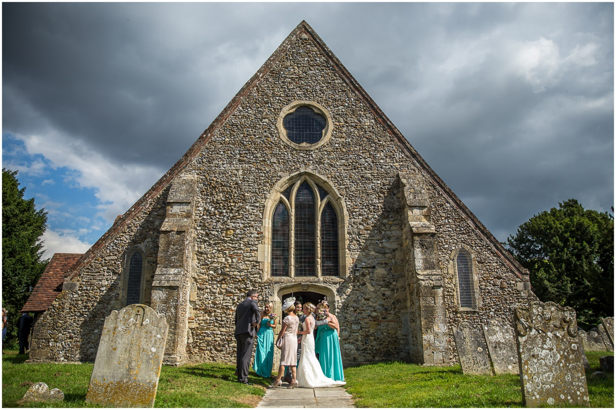 St Thomas a Becket Church Wedding Outside after the wedding ceremony