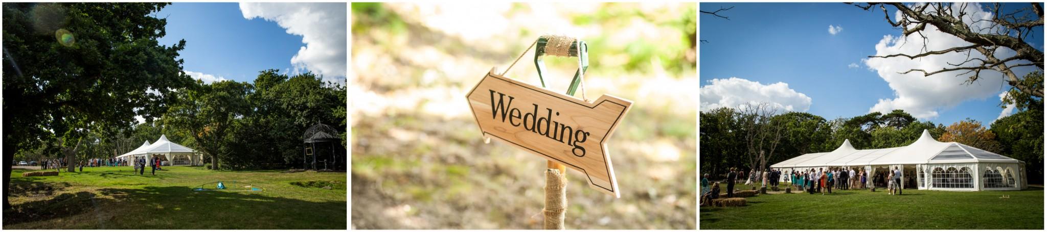 Tournerbury Woods Estate Wedding Marquee Exterior