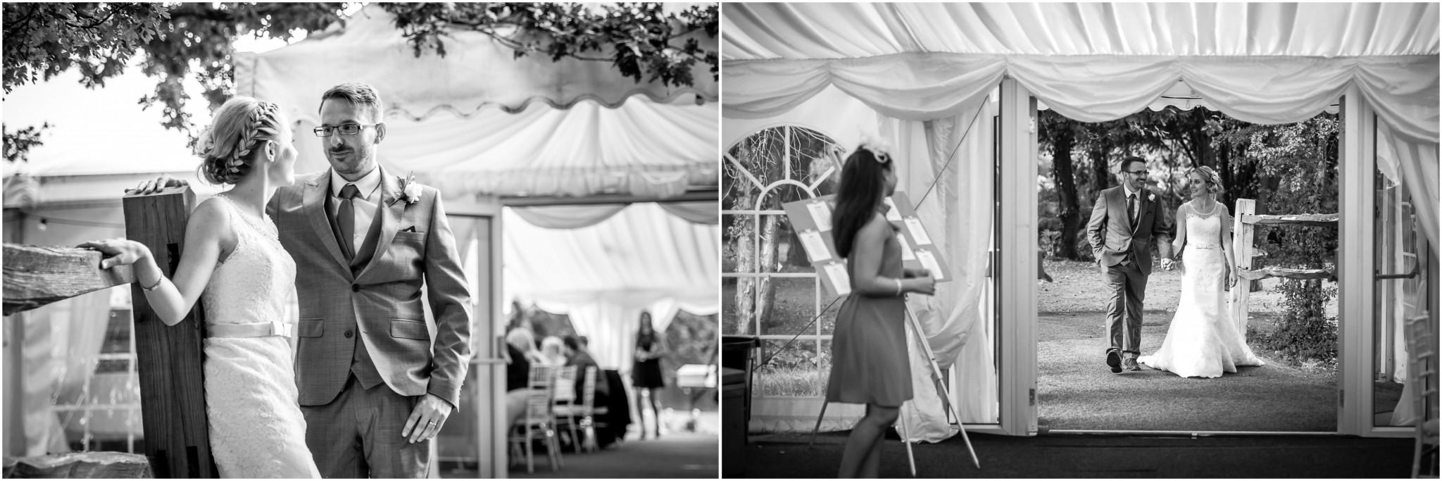 Tournerbury Woods Estate Wedding Bride & Groom by marquee