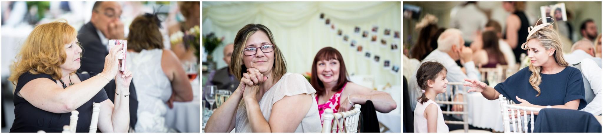 Tournerbury Woods Estate Wedding Guest listening to speeches