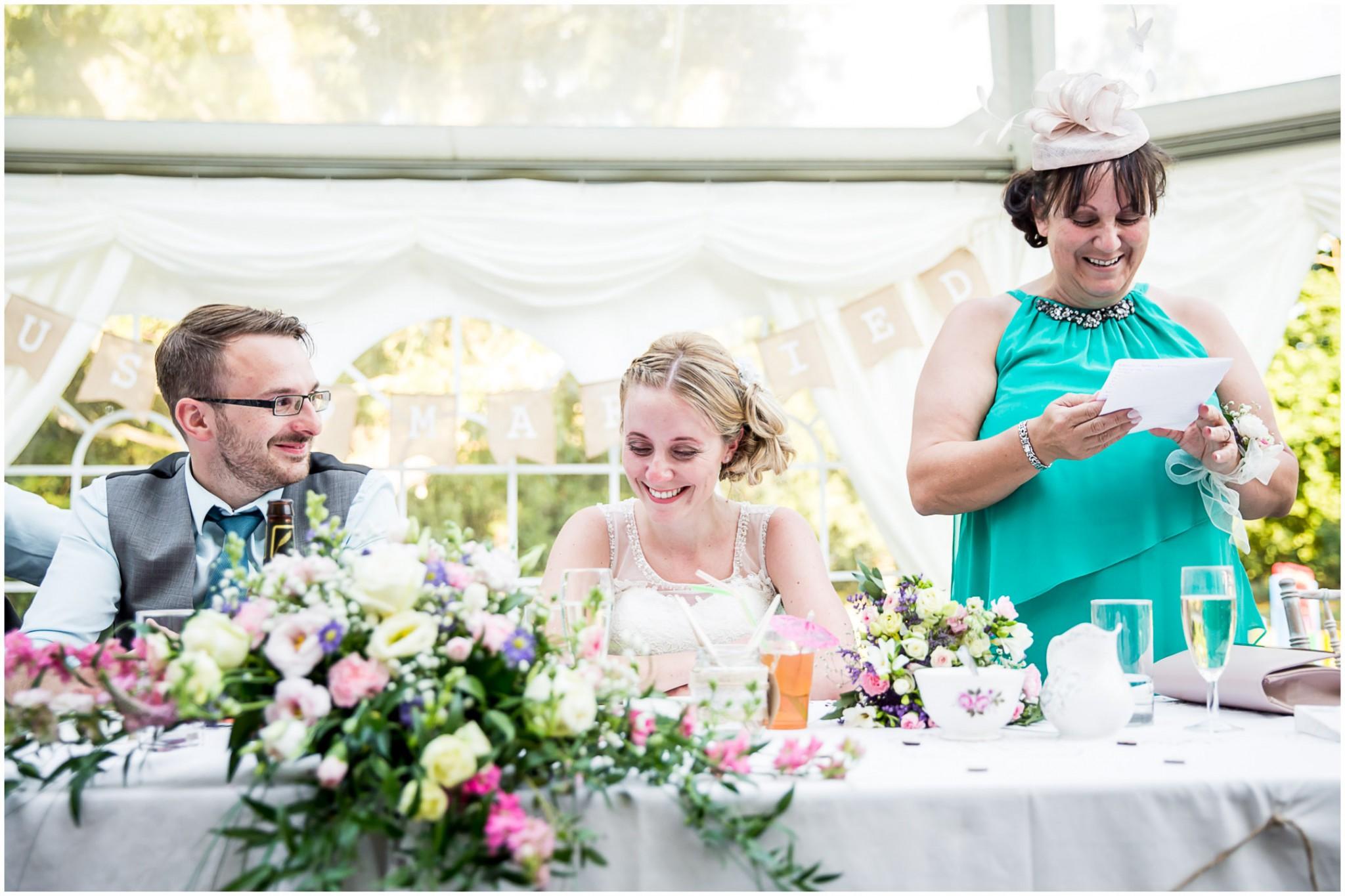 Tournerbury Woods Estate Wedding Mother of the Bride's speech