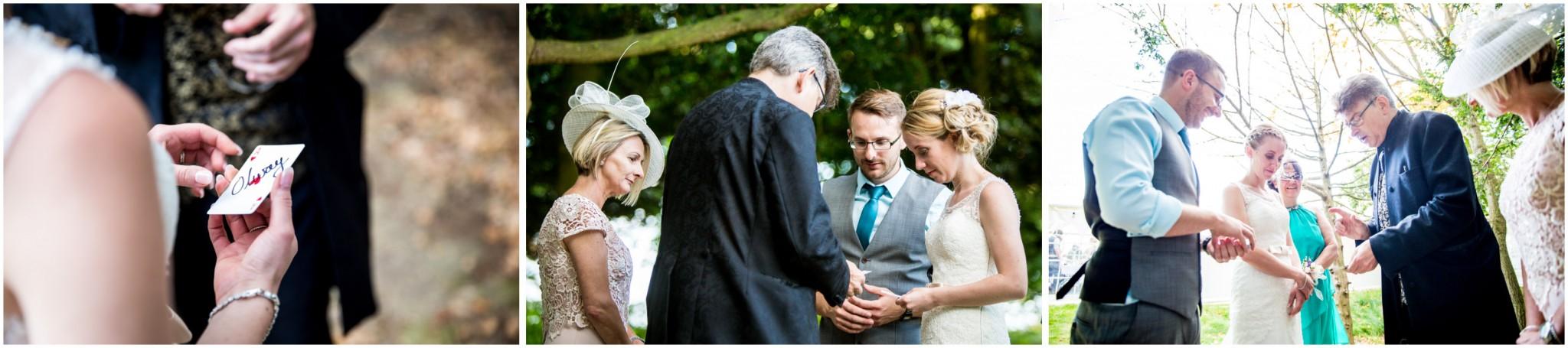 Tournerbury Woods Estate Wedding Guest admiring wedding rings