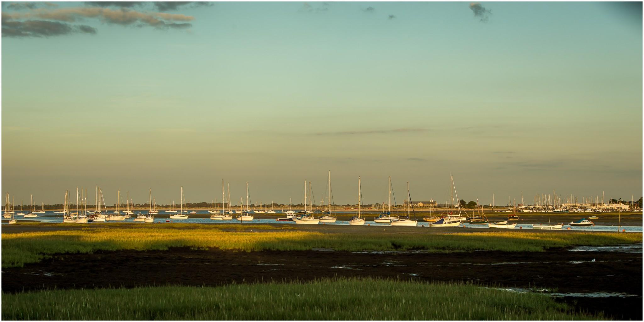 Tournerbury Woods Estate Wedding Sunset over the harbour