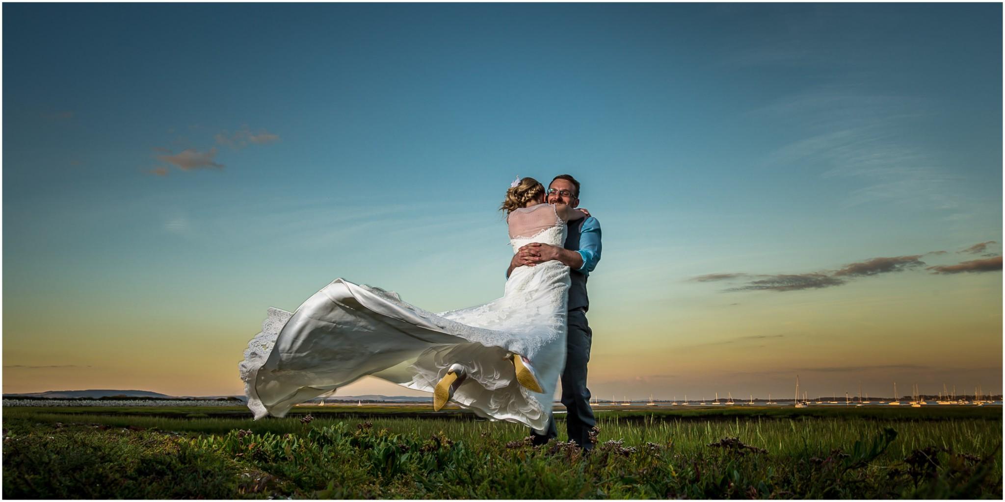 Tournerbury Woods Estate Wedding Bride & Groom embrace