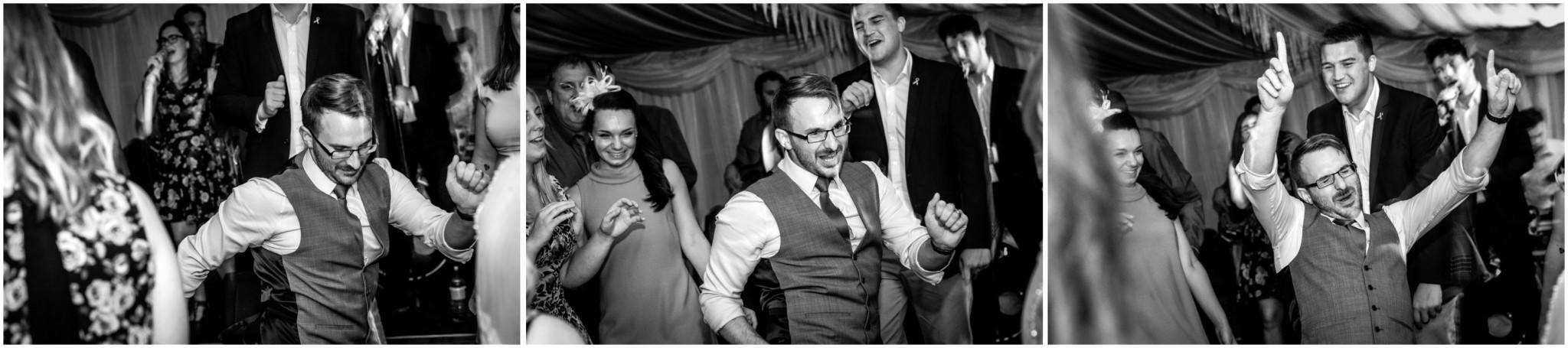Tournerbury Woods Estate Wedding Groom dancing