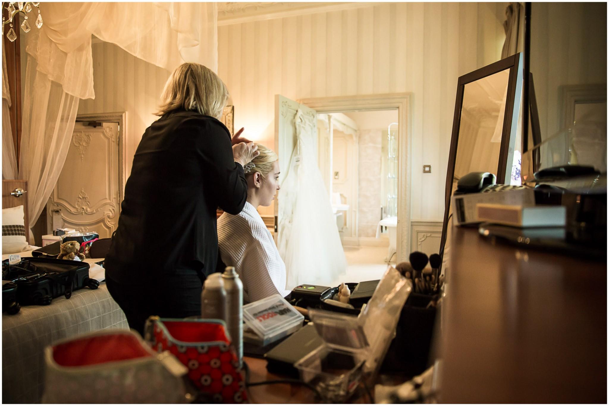 Rhinefield House Wedding Photographer Bridal Hair