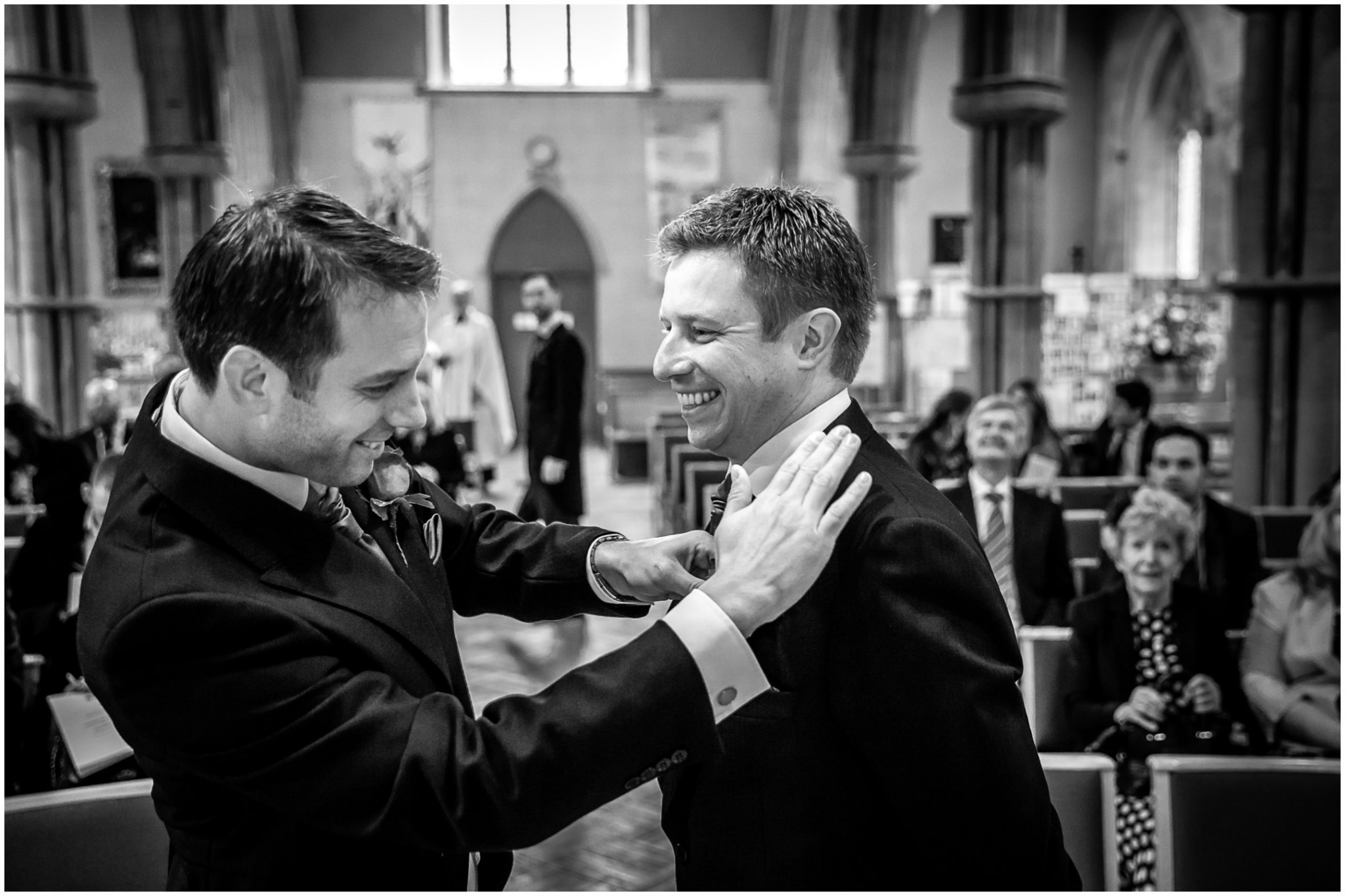 Rhinefield House Wedding Photographer Groom & Best Man