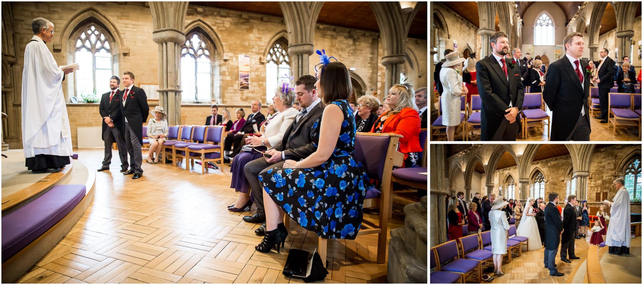 St Saviours Church Brockenhurst Groom waiting for Bride
