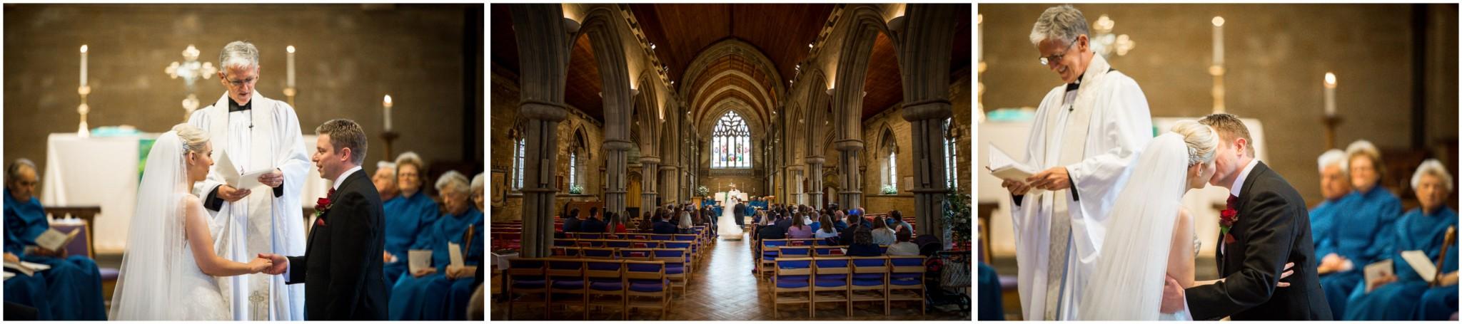 St Saviours Church Brockenhurst Wedding Exchanging vows