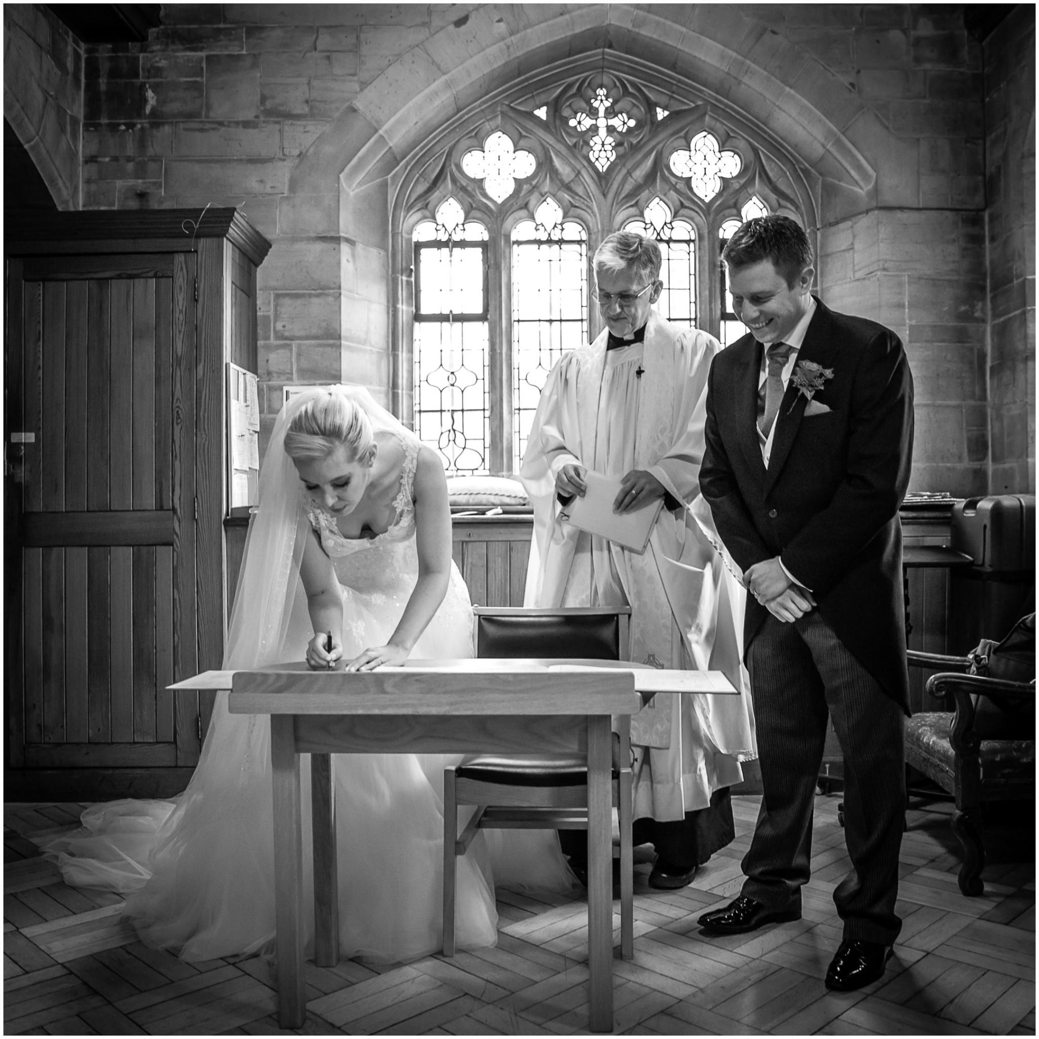 St Saviours Church Brockenhurst Signing the register