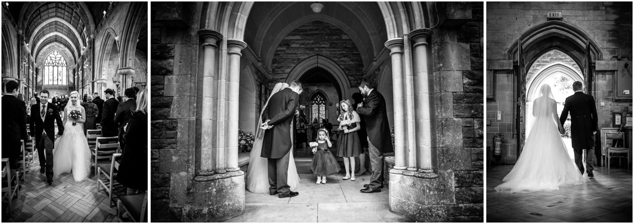 St Saviours Church Brockenhurst Bride & Groom leaving the churct