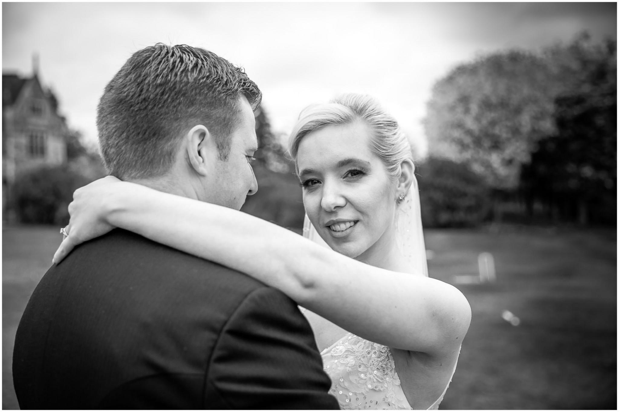 Rhinefield House Wedding Bride & Groom embrace
