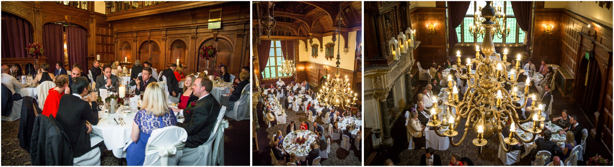 Rhinefield House Wedding Breakfast in banqueting hall
