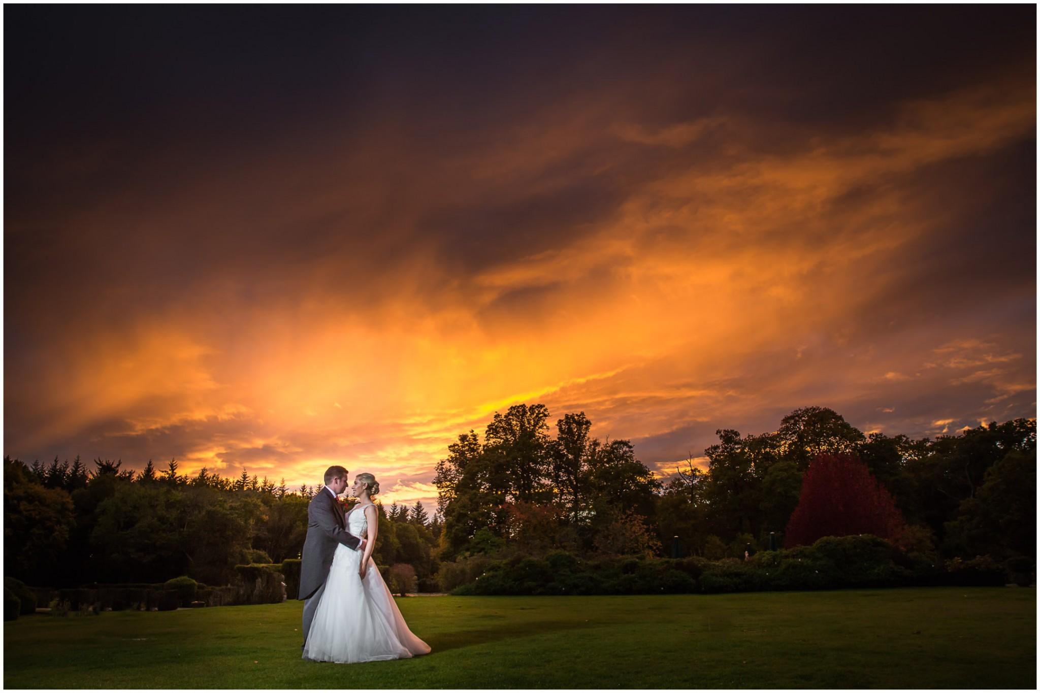 Rhinefield House Wedding Stunning Sunset