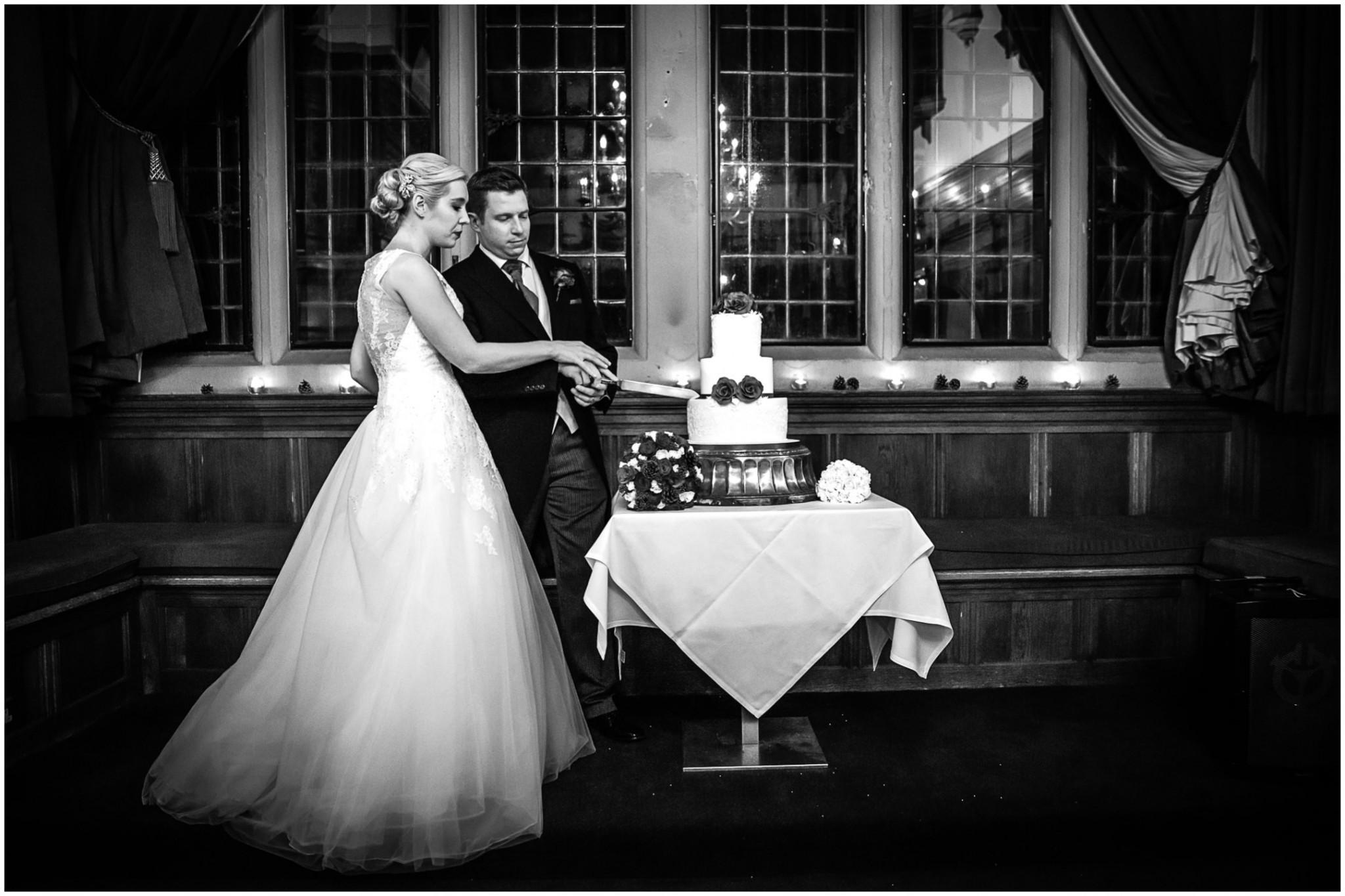 Rhinefield House Wedding Cutting the Cake