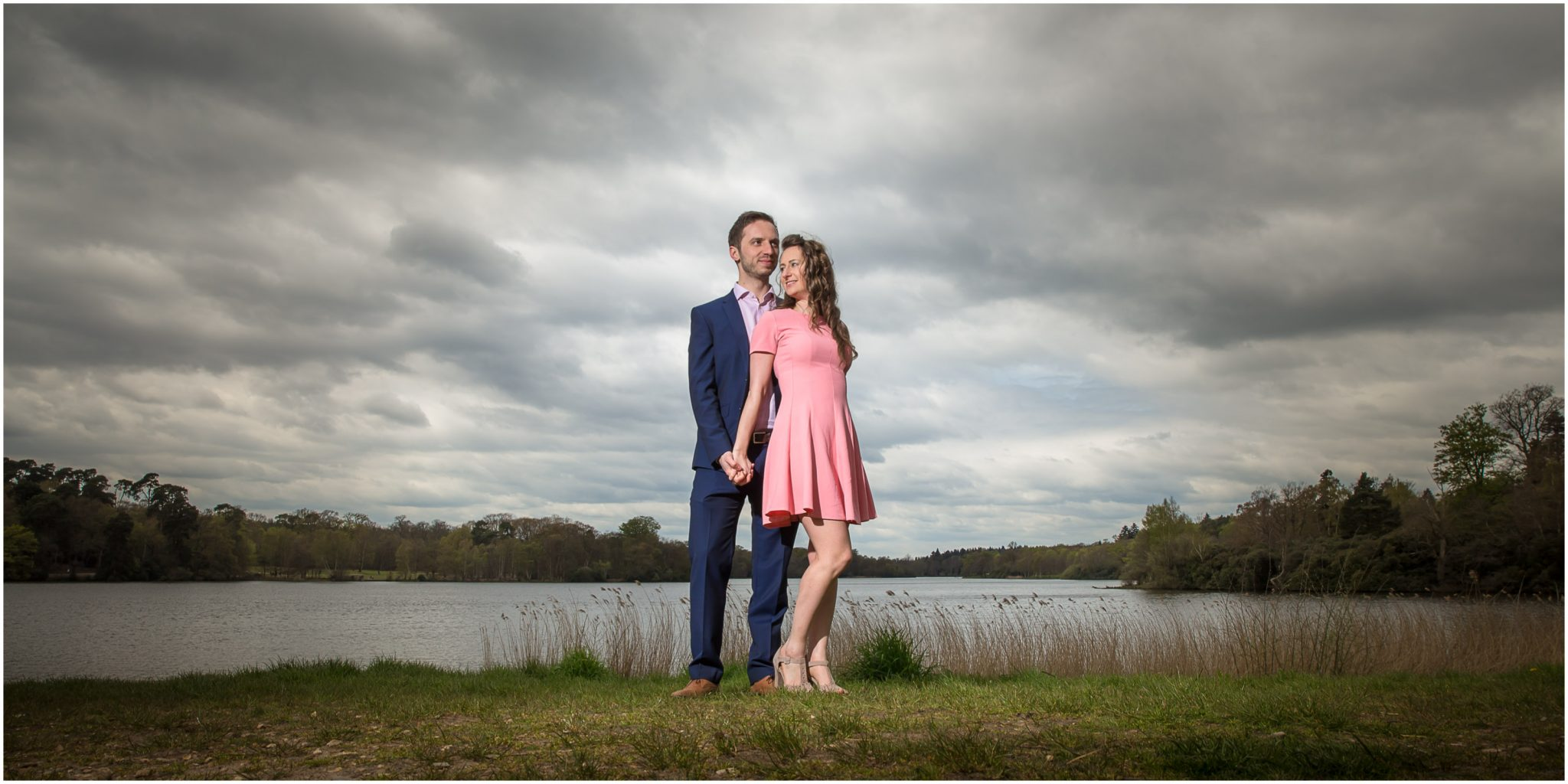 Virginia Water Lake pre-wedding photography