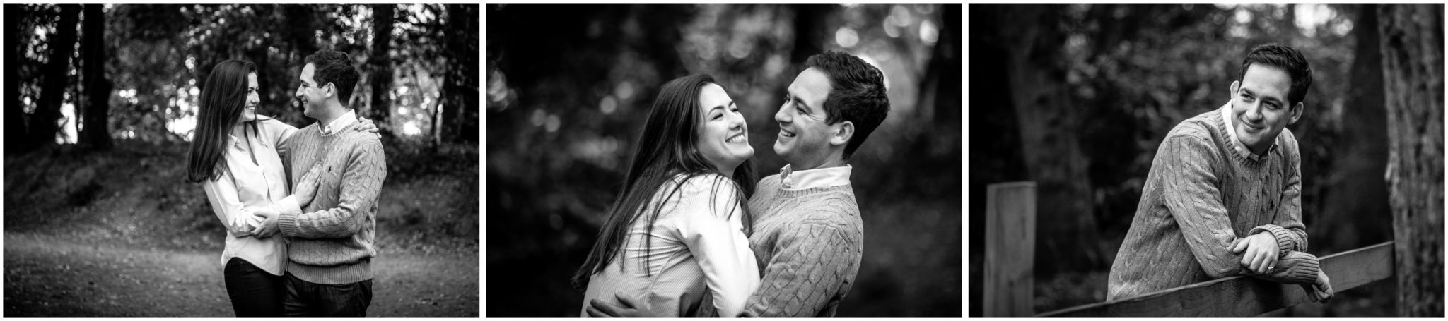 Black and white natural portraits of couple