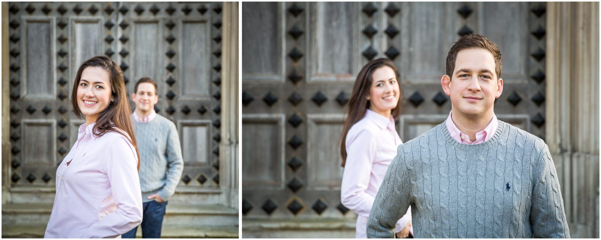 Bride and groom portraits at Highcliffe Castle New Forest