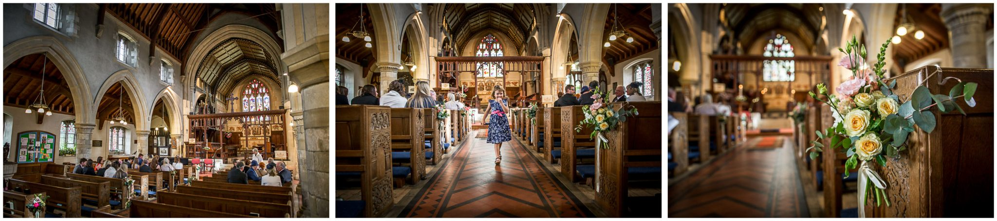 Twyford Church interior before wedding service