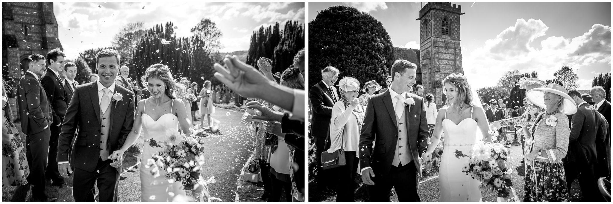 Black and white confetti photos