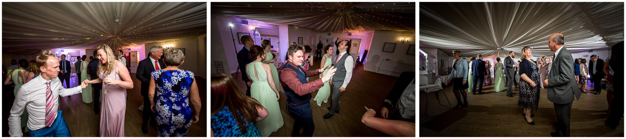 Wedding guests on the dancefloor