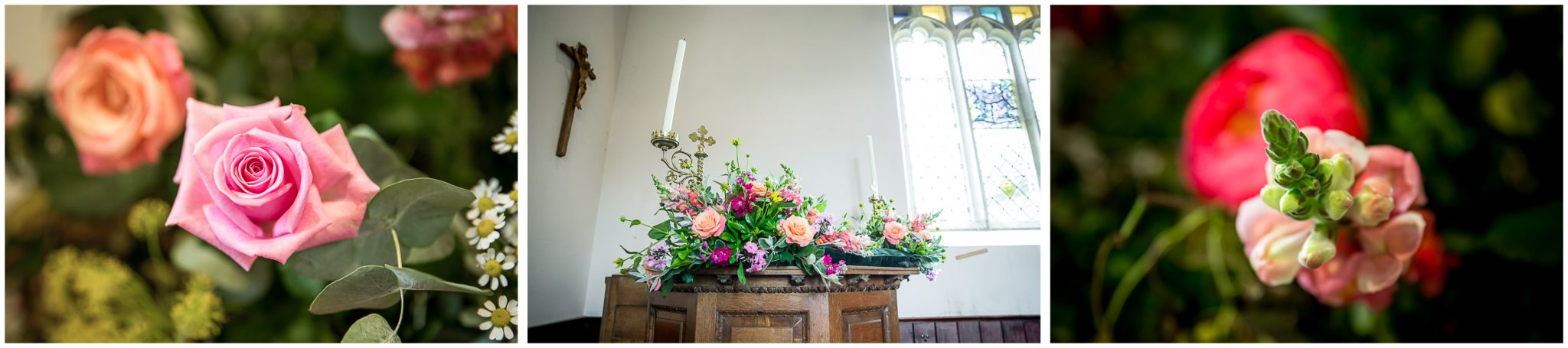 Floral details - church interior