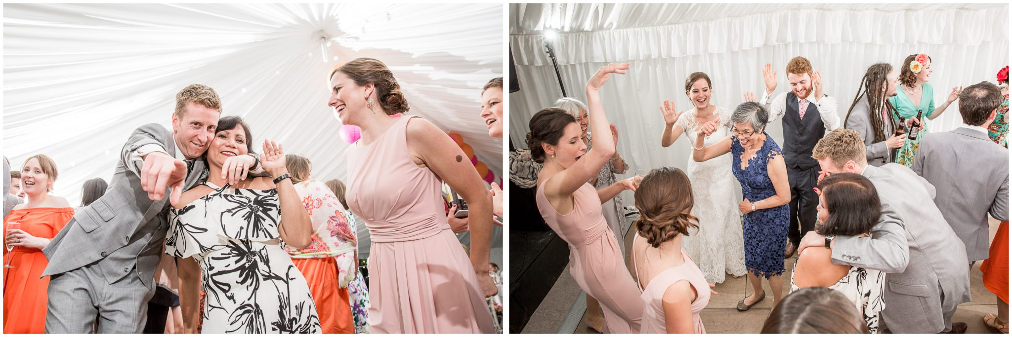 The bridesmaids hit the dancefloor