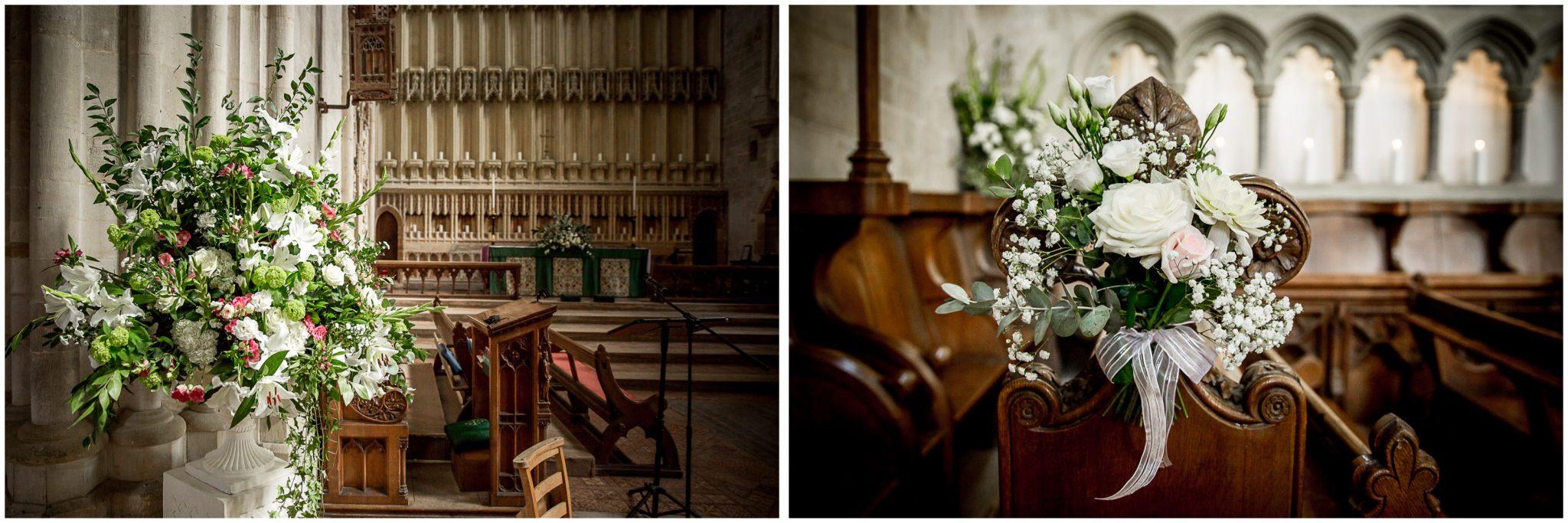 Floral details church interior