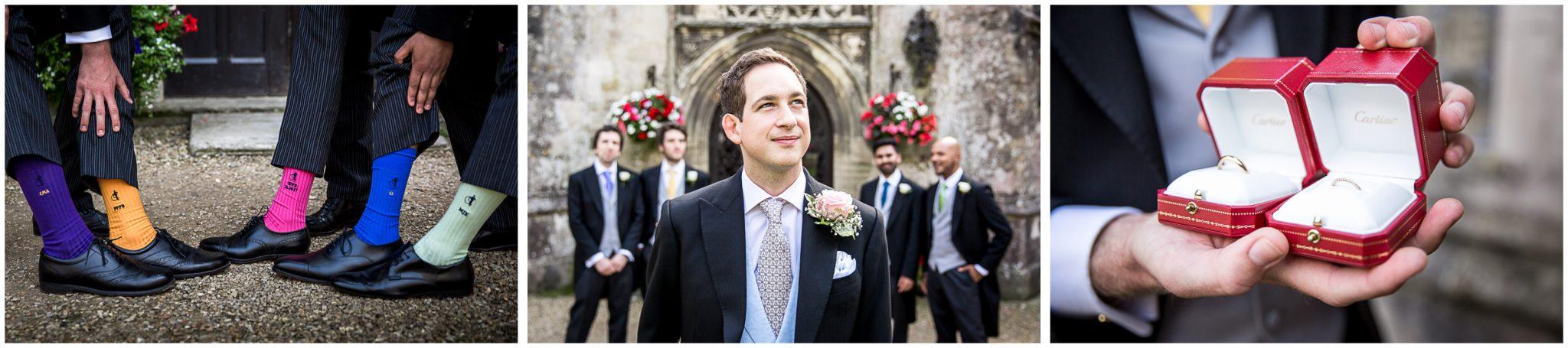 Groom and groomsmen before wedding ceremony