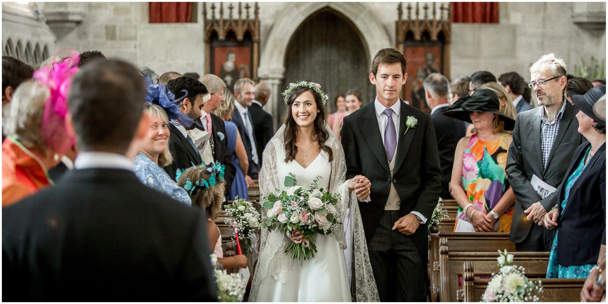 Bride walking the aisle