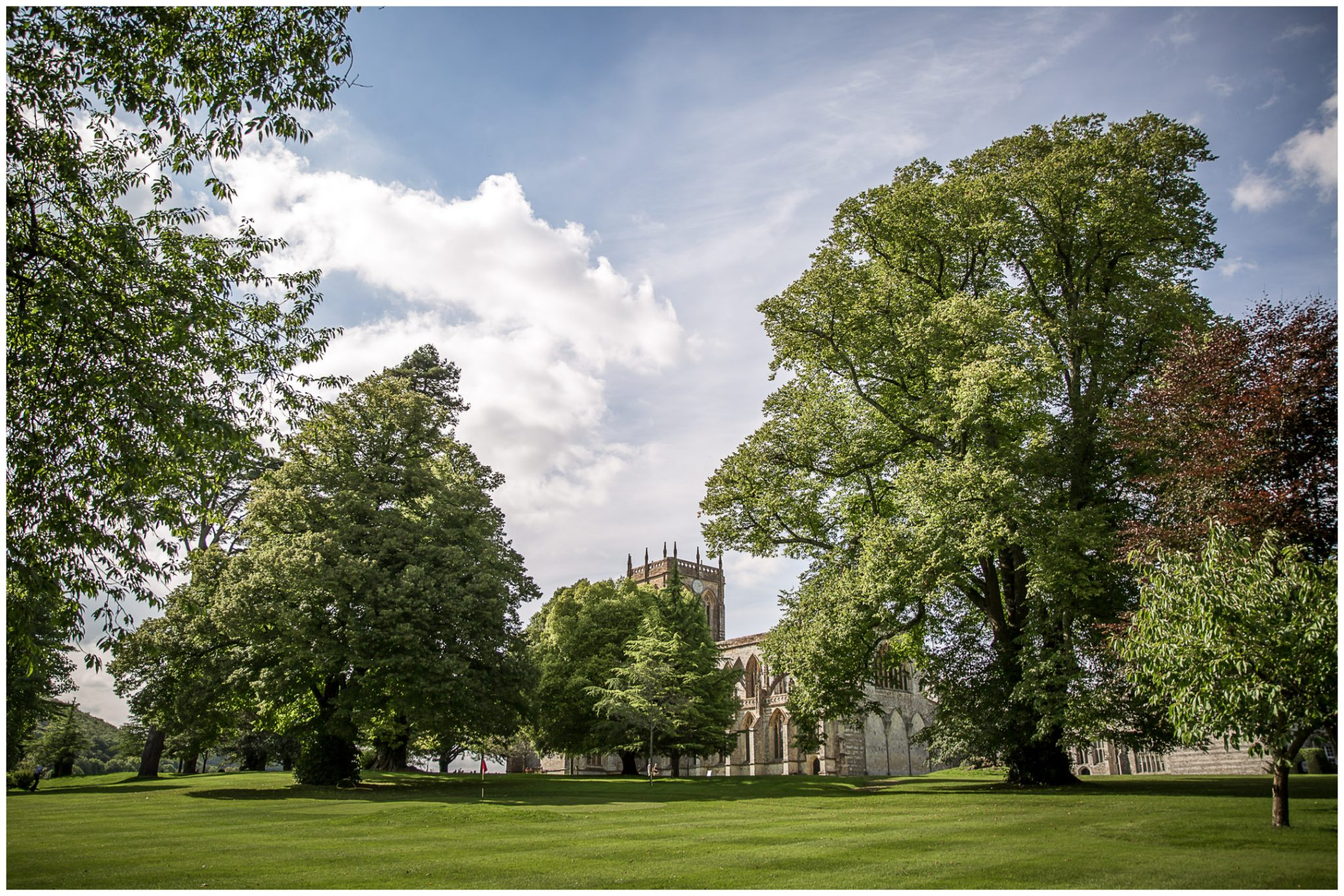 Milton Abbey Wedding Photographer exterior