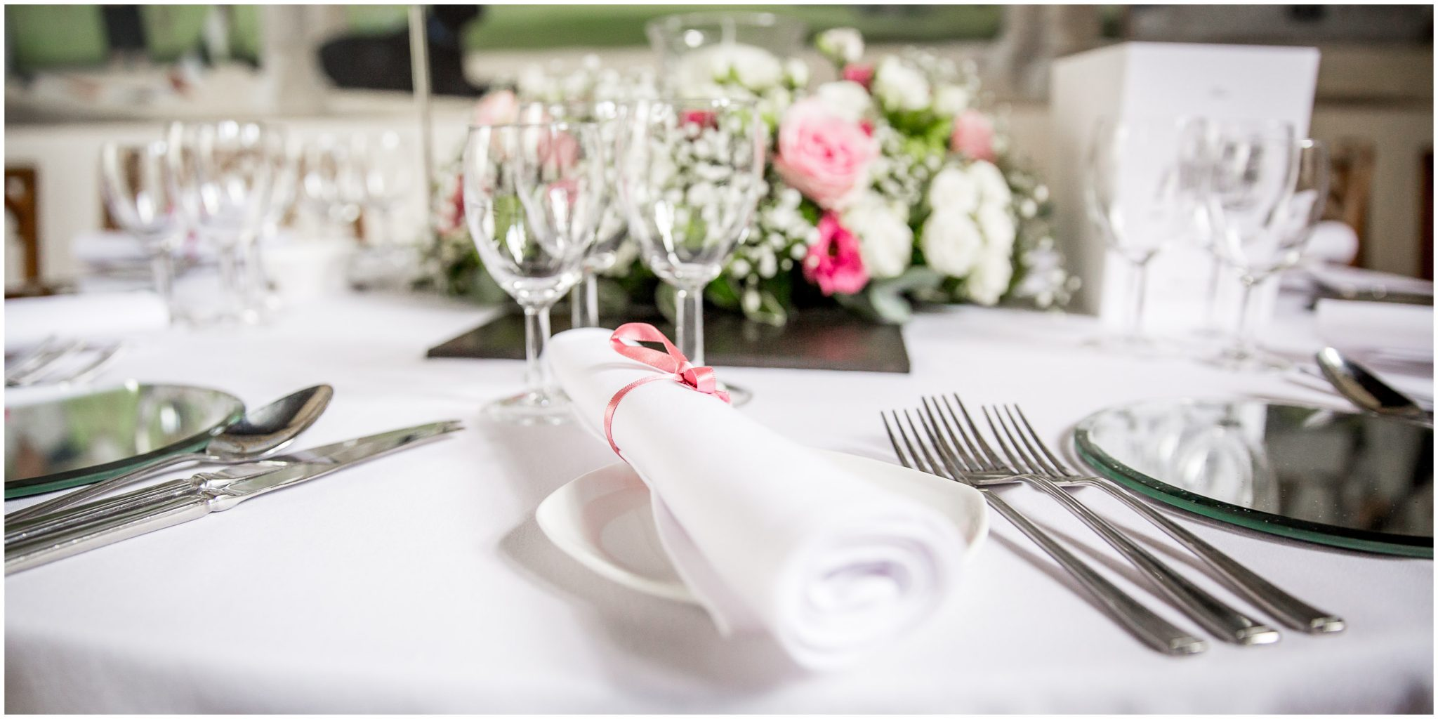 Place setting for wedding breakfast