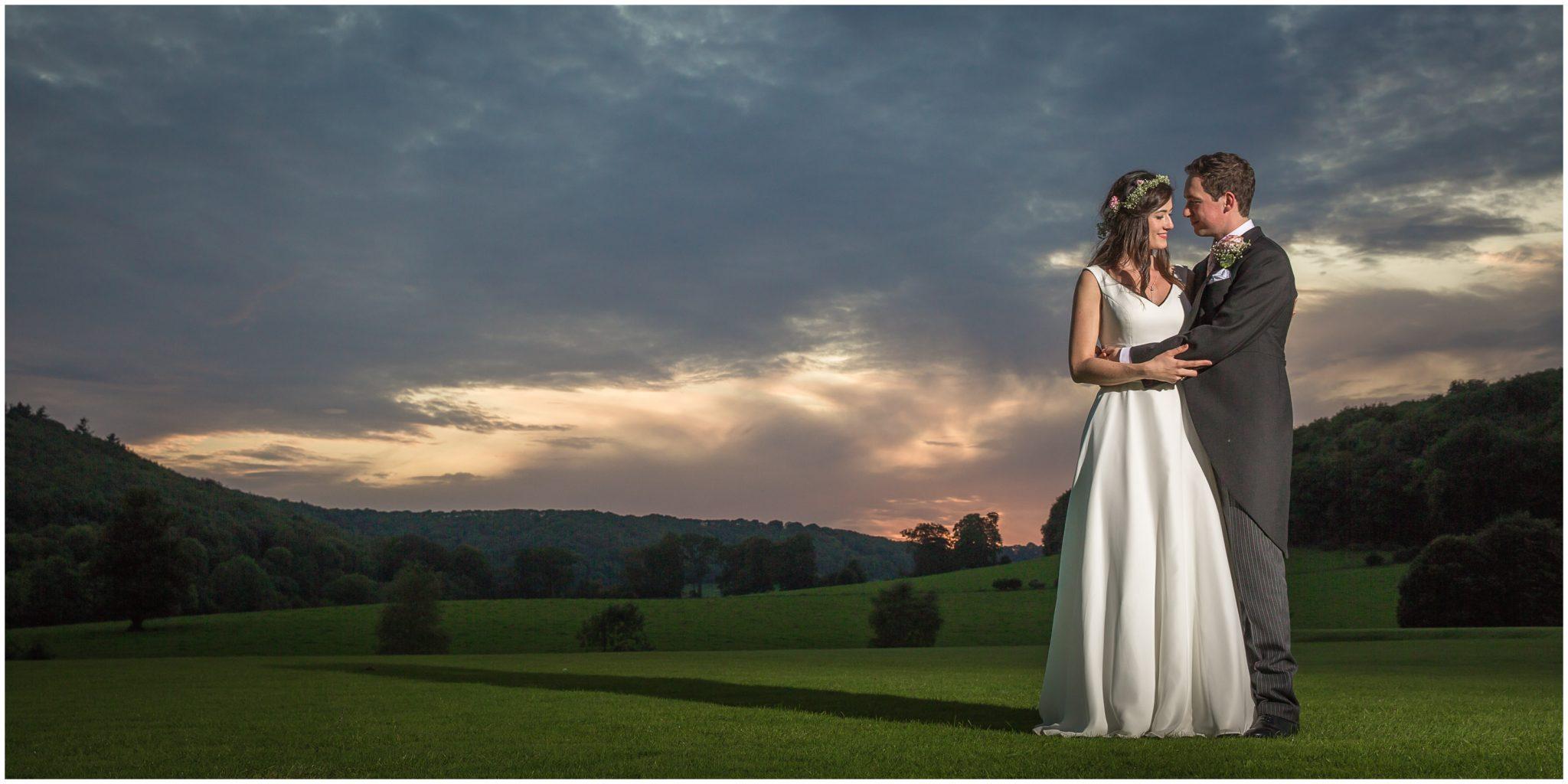 Couple sunset portrait