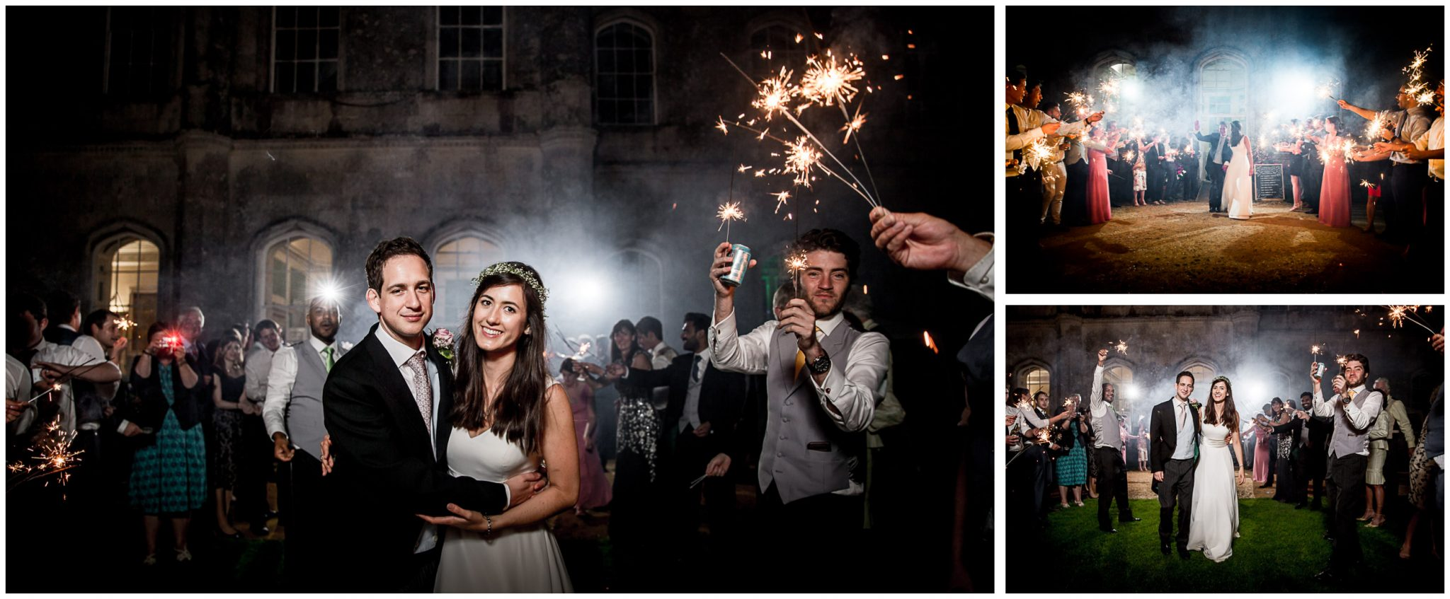 Couple and sparklers