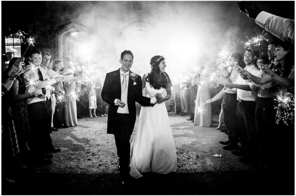 Black and white sparkler photo