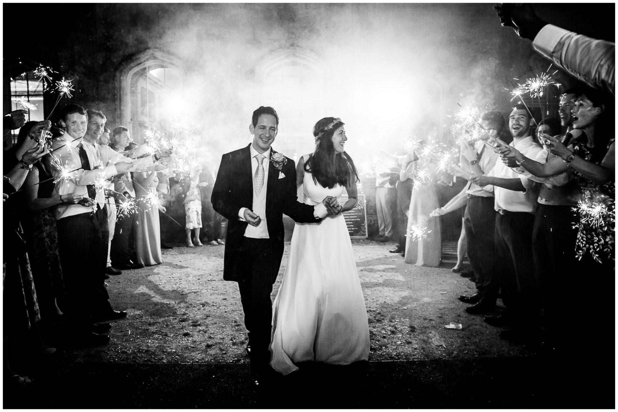 Black and white sparkler photo
