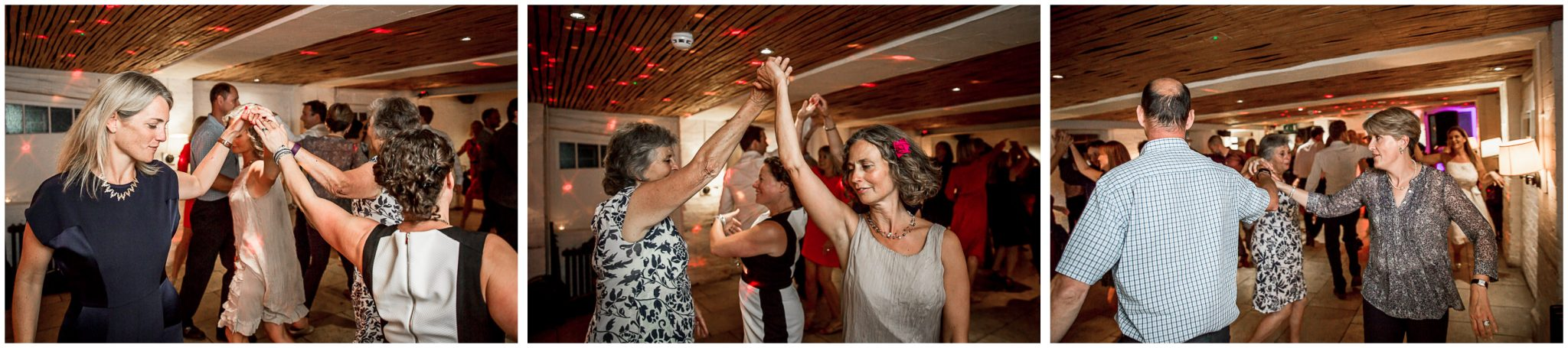 Candid photography of dancing at wedding reception