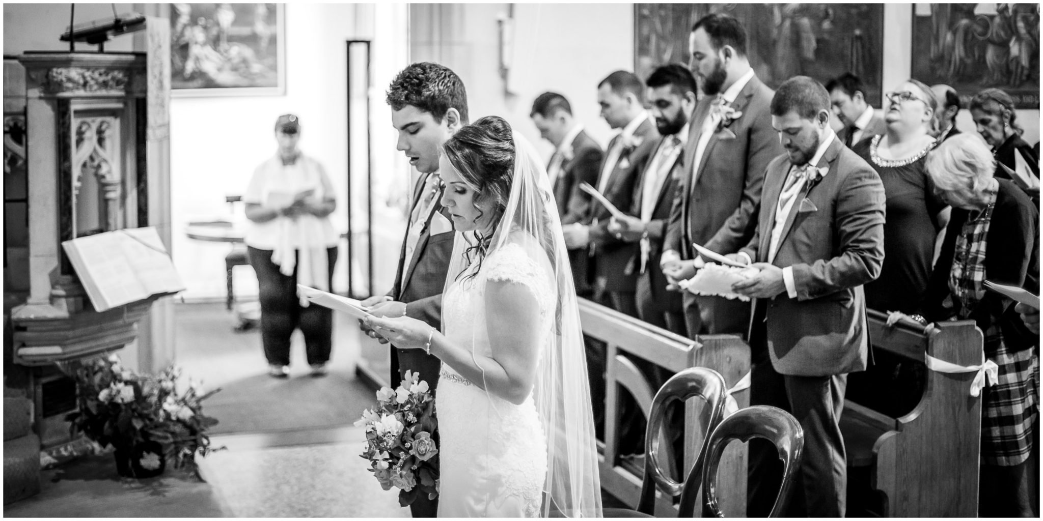 Hymns during marriage service