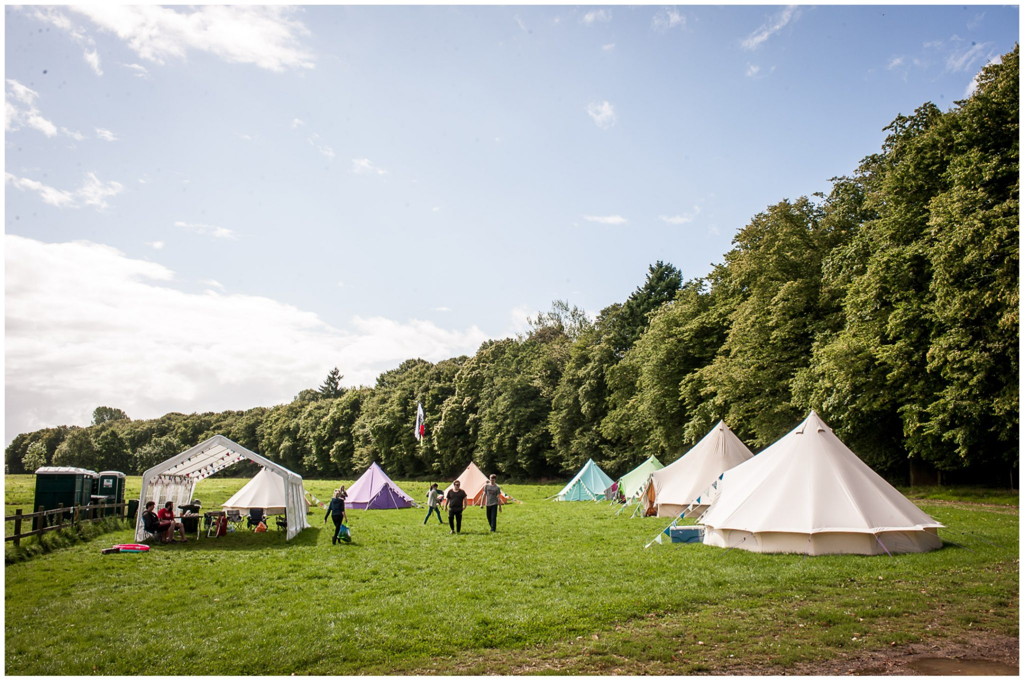 Timsbury Manor Festival Wedding yurts and tents in estate grounds