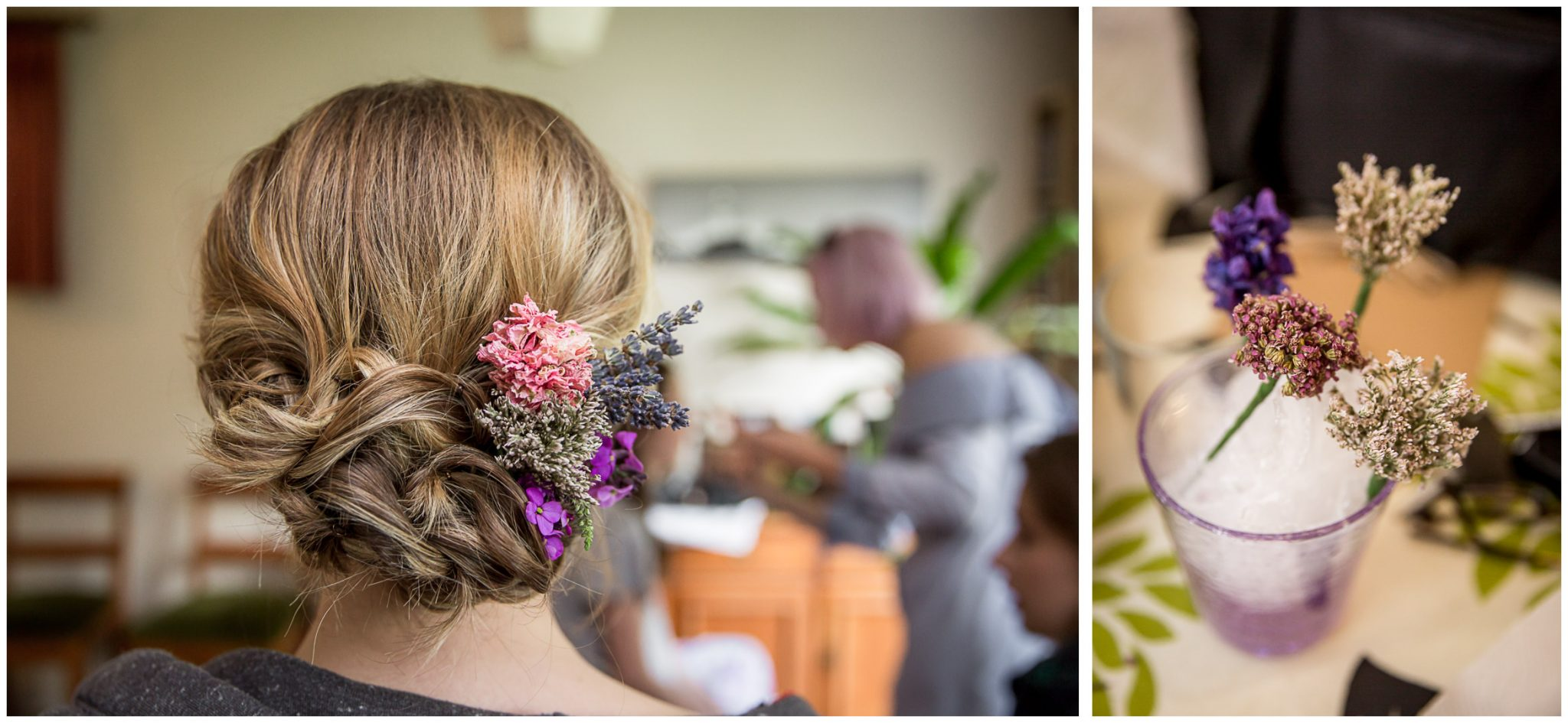 Timsbury Manor Festival Wedding floral details in hair