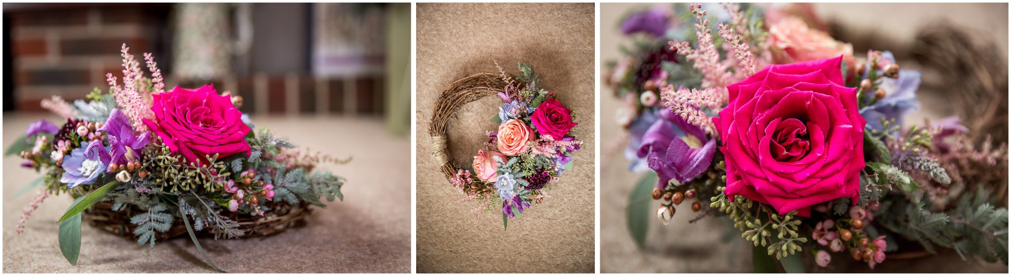 Timsbury Manor Festival Wedding colourful floral details