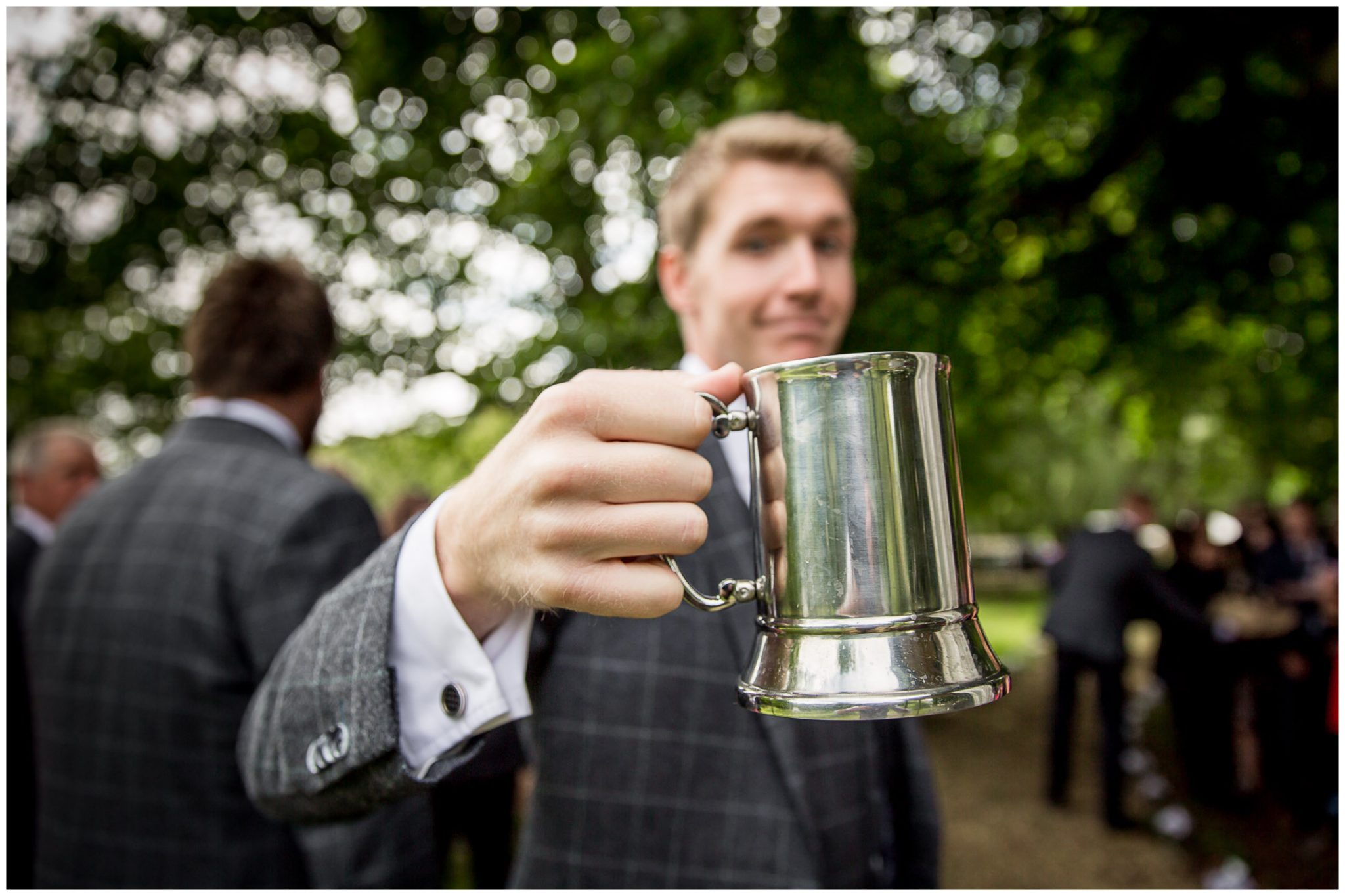 Timsbury Manor Festival Wedding dutch courage for groom before ceremony