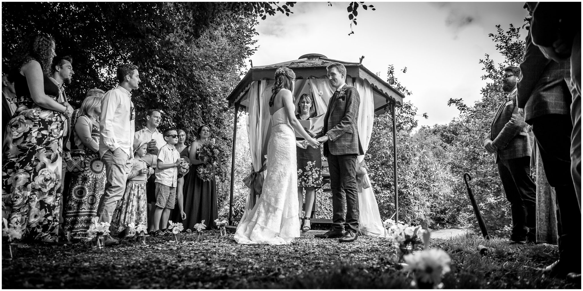 Timsbury Manor Festival Wedding outdoor marriage ceremony