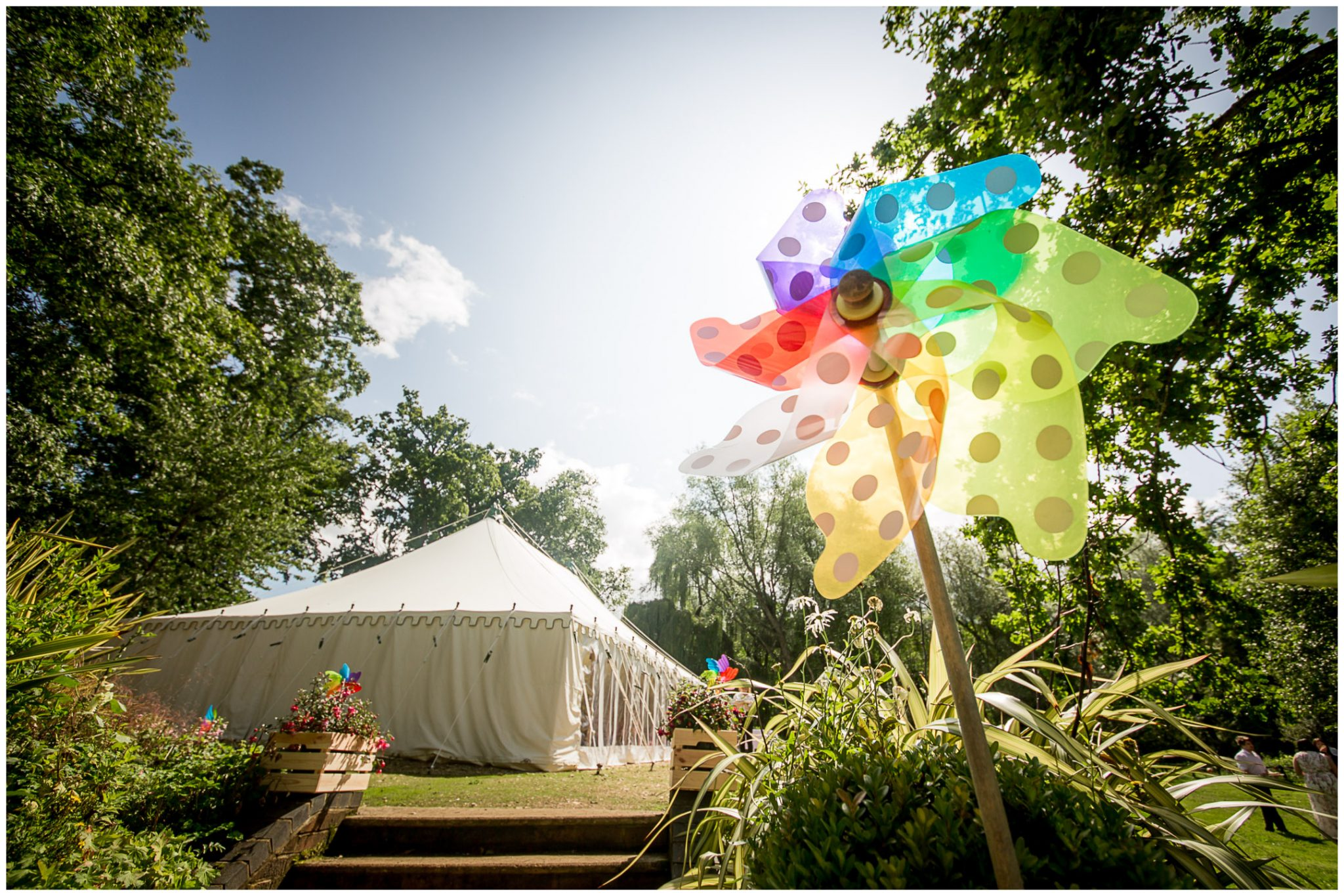 Timsbury Manor Festival Wedding marquee exterior