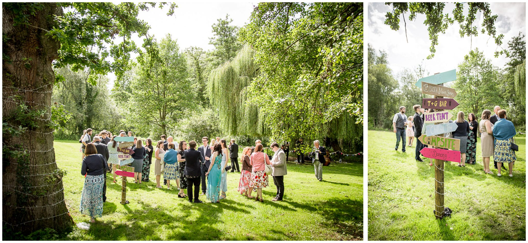 Timsbury Manor Festival Wedding in the grounds of the estate