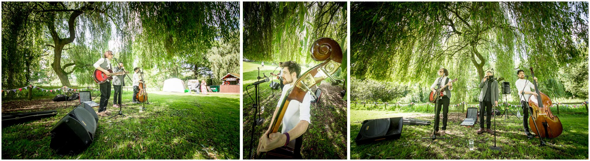 Timsbury Manor Festival Wedding live music under the trees