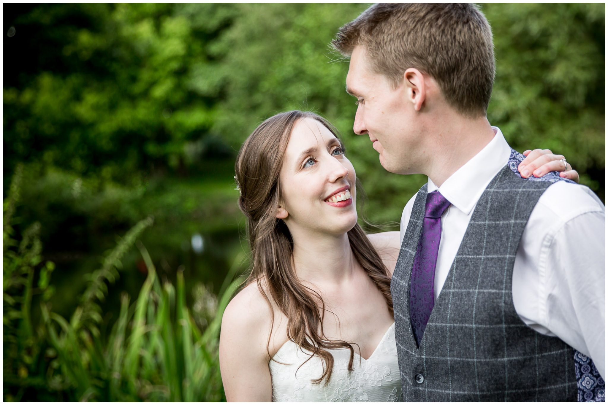 Timsbury Manor Festival Wedding couple portrait