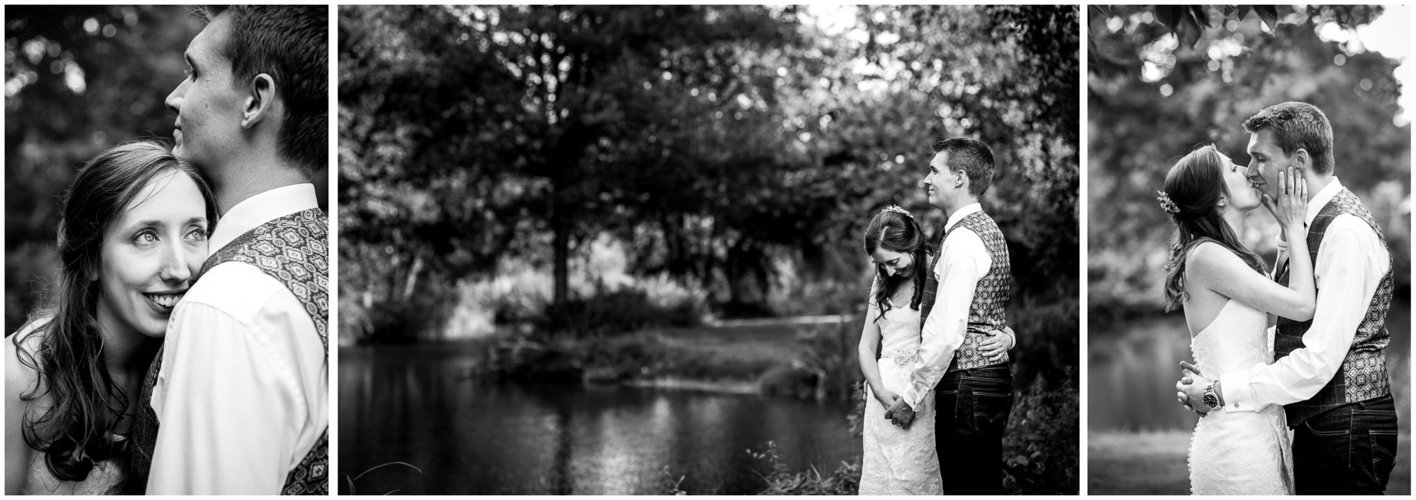 Timsbury Manor Festival Wedding couple portraits in black and white